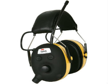 3M TEKK WorkTunes Hearing Protector, MP3 Compatible with AM/FM Tuner - Closed-Back Headphones