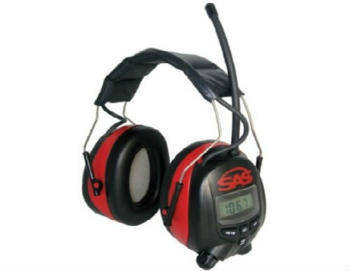SAS Safety 6108 Digital Earmuff Hearing Protection with AM/FM Radio - Closed-Back Headphones