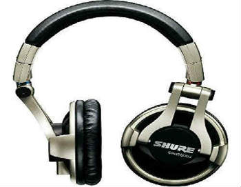Shure SRH750DJ Professional Quality DJ Headphones - Closed-Back Headphones