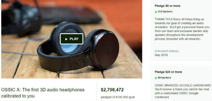 OSSIC X Kickstarter Headphones