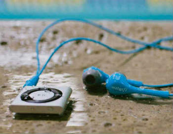Waterfi Waterproof Short Cord Headphones - In-Ear Headphones